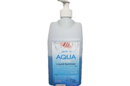 aqua pure Sanitizer liquid 70% alcohol